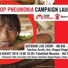 [UNDANGAN] Peluncuran Kampanye Stop Pneumonia – 18 Agustsu 2019
